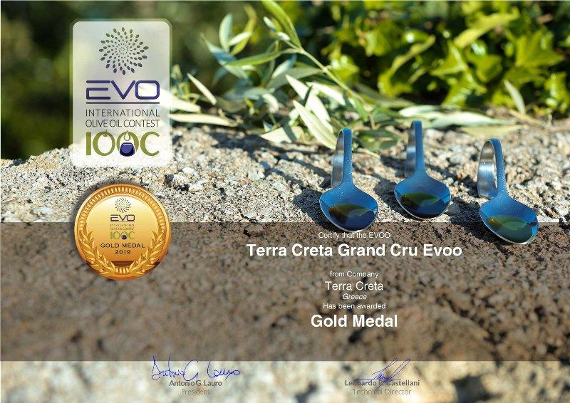 olívaolaj organikus, hidegen sajtolt - Terra Creta-tól